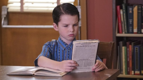 young sheldon reading